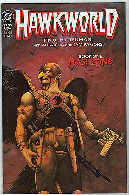 Hawkworld #1 VF/NM LOT (3) HAWKMAN 1989 Flashzone Tim Truman Alcatena 1st prints