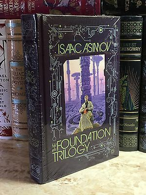 THE FOUNDATION TRILOGY by ISAAC ASIMOV Leather Bound & BRAND NEW!!!