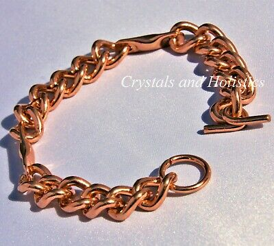 Bracelet / Anklet MANS MAGNETIC Solid Pure Copper CHAIN LINK Made to Order MBS61