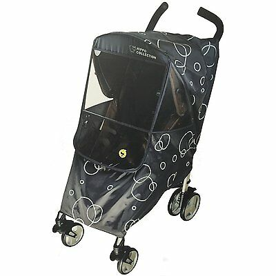 Hippo Collection Universal Stroller Weather Shield Dark Gray - Circle Pattern