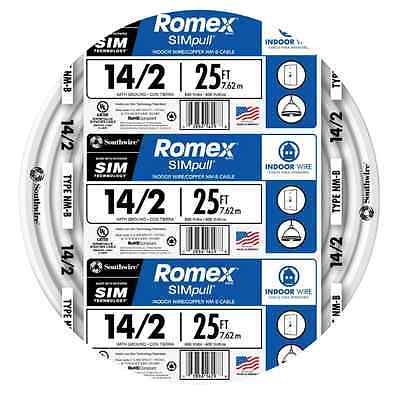 Romex SIMpull 25-ft 14-2 NM-B Gauge Indoor Electrical Non-Metallic Wire Cable