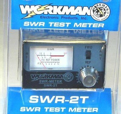 New Workman SWR-2T SWR test meter CB Radio Antenna w Astatic 3ft RG8X Coax Cable