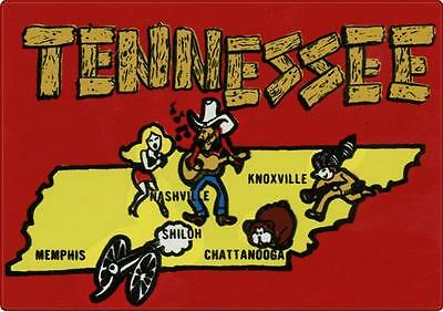#669 (1) Vintage Tennessee Nashville Luggage Label Travel Decal Sticker Repro
