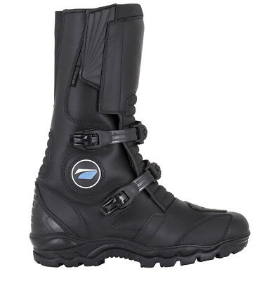 Spada Chunk Adventure Styled Waterproof Black Motorcycle Motorbike Bike Boots