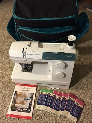 Husqvarna Viking Emerald 116 Mechanical Sewing Machine Carrying Case and Manual