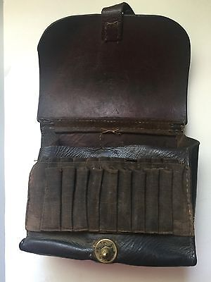 A German Military  Leather Cartridge Belt Bag Dated 1892