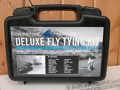 Deluxe Fly Tying Kit ~ Creative Angler ~ New ~ Free Shipping