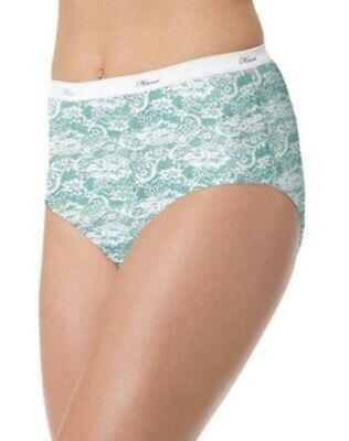 6 Pack Hanes Women/'s No Ride Up Cotton Brief Panties Assorted Colors//Prints 6-10