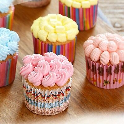 100pcs/Lot Color Paper Cupcake Mold Muffin Cupcake Paper Cups goodquality CA-607