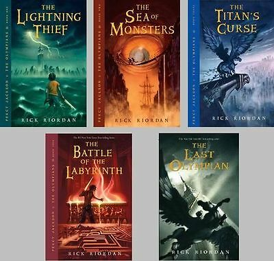 5 Audiobooks - Percy Jackson and the Olympians Series by Rick Riordan Mp3  Percy