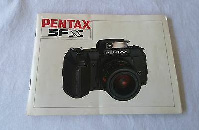 Pentax SFX 66 Page Owners Manual 1987 - Free Post