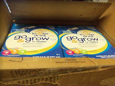 Go & Grow By Similac Powder Singles Milk Based Toddler Drink, Vanilla- 4 Boxes