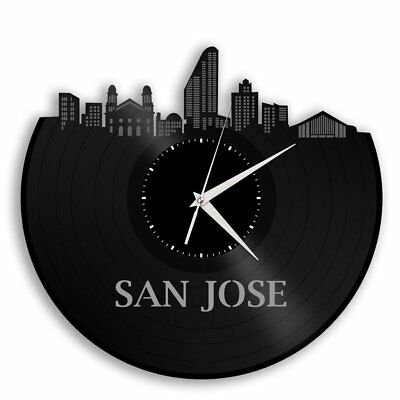 San Jose Vinyl Wall Clock City Skyline Unique Gift for Office & Home Decoration