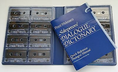 Floyd Wickmans Salespersons Dialogue Dictionary 16 Audio Cassettes and Manual