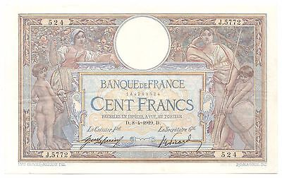 France P#71a 1919 100 Francs, Large, Beautiful, Rare World Bank Note [819.07]