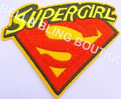 1 Embroidery Applique Supergirl Iron On Sew On Patch Clothes Craft