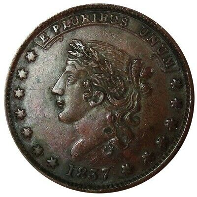 1837 Usa Hard Times May Tenth Specie Payments Suspended Token Ht 65