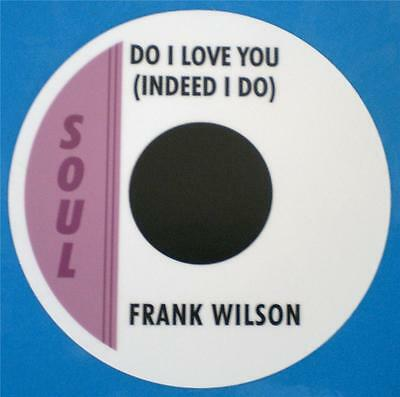 Northern Soul - Record Box Sticker - Frank Wilson - Do I Love You Indeed I Do
