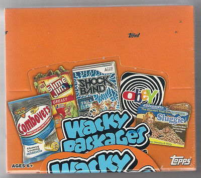 Wacky Packages Series 9 Trading Card Stickers Hobby Box 2012 Topps