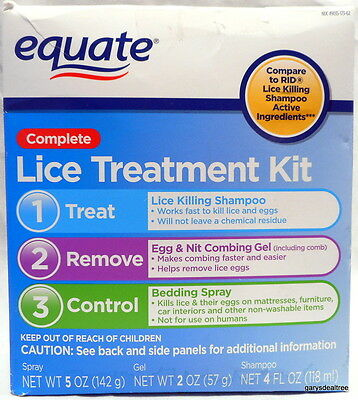 Equate Complete Lice Treatment Kit Expires 10/2017 Dented Box