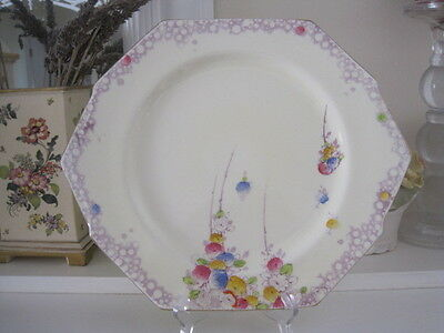 Gorgeous Deco Paragon Summer Roses Cake Plate ~ Unusual Shape