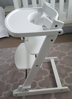 EVO White Wooden (tripp trapp style) foldable and convertible high chair