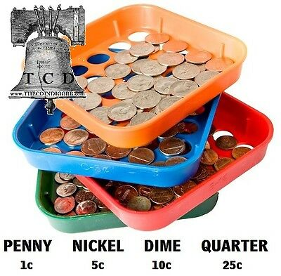 Speed Sort Coin Sorting Trays Organizer MMF Penny Nickel Dime Quarter Sorter