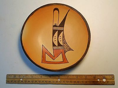 Early 1970's 7 Inch Hopi Polychrome Bowl Signed by Myra Daniels (1910-1975)