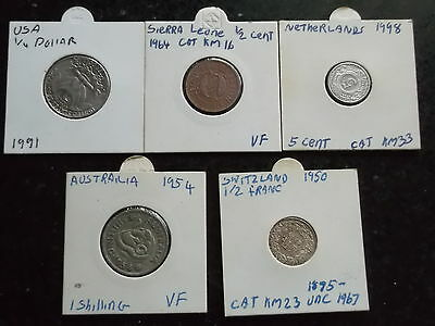 5 pre loved Coins for sale (Lot 3)