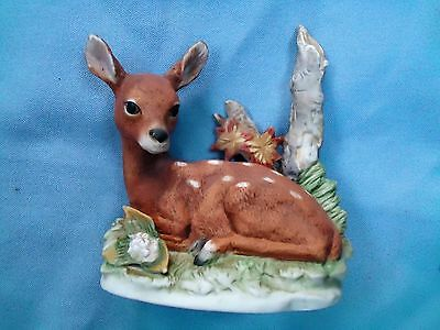 HOMCO FAWN/DEER PORCELAIN FIGURINE marked
