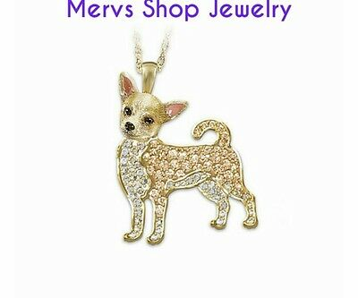 Bradford Exchange Preowned Chihuahua Necklace