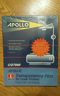 Apollo Transparency film for laser printers CG7060 50 sheets
