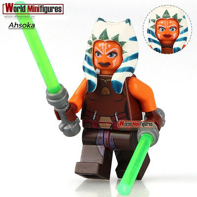STAR WARS Jedi Ahsoka Tano with LightSaber DIY Blocks Minifigures Toys Gifts