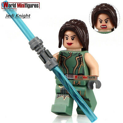 STAR WARS Jedi Satele Shanwith LightSaber DIY Blocks Minifigures Toys Gifts