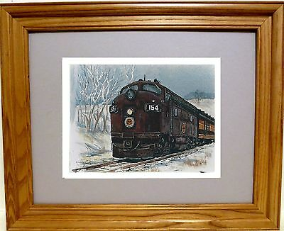 New Chicago Great Western Railroad Print By Iowa Artist Colleen Carson
