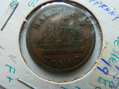 Nova Scotia Half Penny Fisheries and Agriculture TOKEN!!