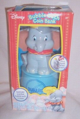 ~NEW IN BOX~ DISNEY Dumbo Bubble Bath Coin Bank Lavender Scented Collectible 3+