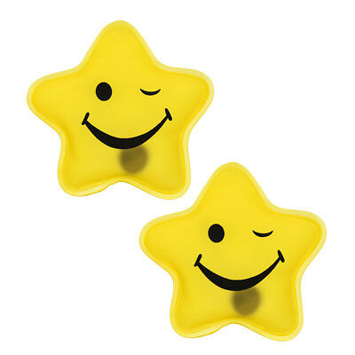 Pocket warmer Sets - yellow Star Smiley - Handwarmer Heating Pad Firebag