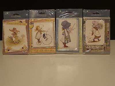 NIP Holly Hobbie blank note cards with envelopes ~ 4 pack total 40 cards