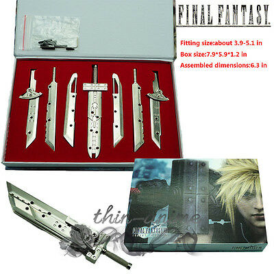 Final Fantasy FF7 AC VII Advent Children Cloud Assembled Blade 7 Sword Grey Hot
