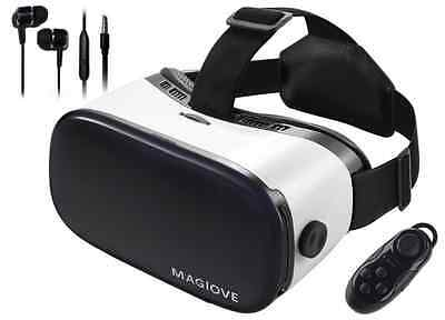 MAGIOVE 3D VR Glasses Virtual Reality Headset Mobile Phone 3D Movies for iPhone