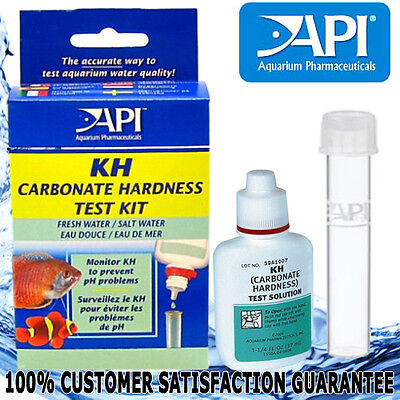 API Aquarium Fish Tank Freshwater Saltwater KH Carbonate Hardness Test kit new