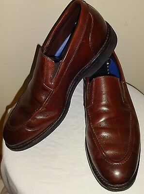 cddd979aa22 Allen Edmonds Road Warriors Slip-Ons BROWN Loafer Leather Dress Shoes 9 D