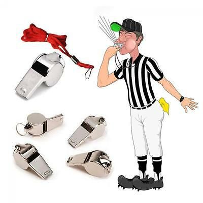 Soccer  Sports  Football Whistle  Referee Metal  With Lanyard