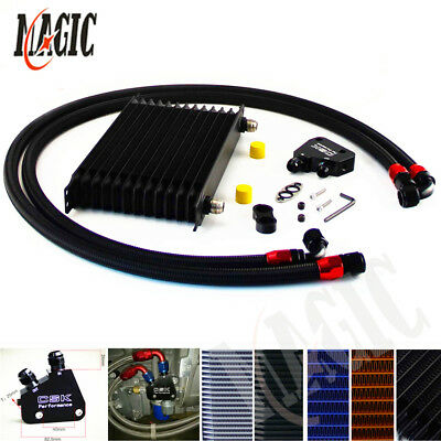 Universal 13 Row Engine Oil Cooler Kit + Sandwich Plate adapter For LS1 LS2 LS3