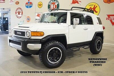 2010 Toyota FJ Cruiser LIFTED,AUTO,BACK-UP CAM,BLK WHLS,67K,WE FINANCE 10 FJ CRUISER 4X2,AUTO,LIFTED,BACK-UP CAM,CLOTH,17IN BLACK WHLS,67K,WE FINANCE!!