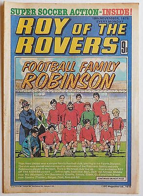 ROY OF THE ROVERS Comic - 18th November 1978