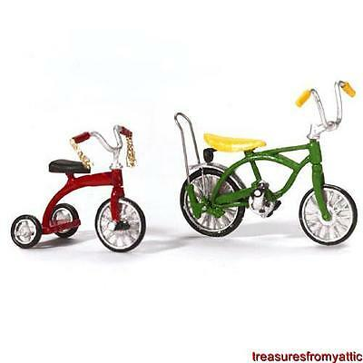 Dept 56 VILLAGE BICYCLE AND TRICYCLE #52950 NRFB General Accessory Retired 2004