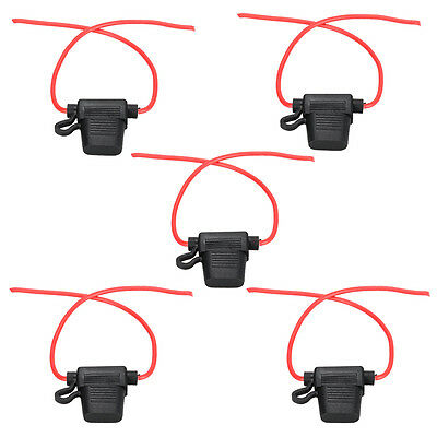 5 x In-line Mini Blade Fuse Holder Waterproof for 12V 30A Fuses Car