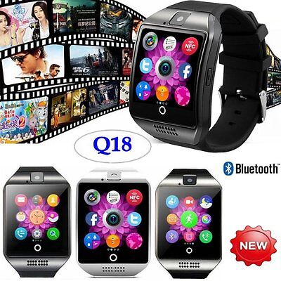 Q18 Bluetooth Smartwatch Uhr Watch Armband Android IOS iPhone Windows Smartphone
